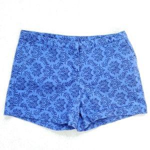 Cynthia Rowley Shorts Blue Printed Size 4